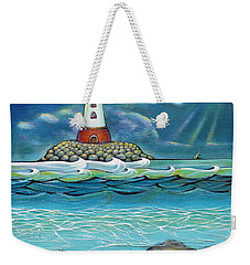 Lighthouse Fish 030414 Weekender Tote Bag