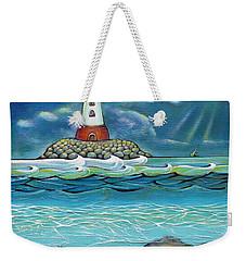 Lighthouse Fish 030414 Weekender Tote Bag by Selena Boron