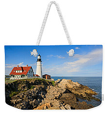 Lighthouse In The Sun Weekender Tote Bag