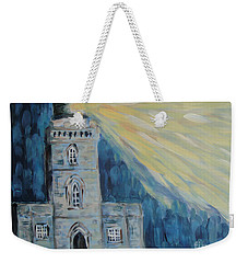 Weekender Tote Bag featuring the painting Lighthouse by Maria Langgle