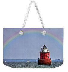 Lighthouse On The Bay Weekender Tote Bag