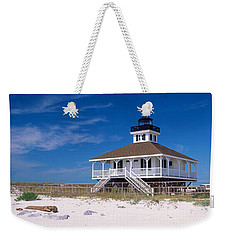 Lighthouse On The Beach, Port Boca Weekender Tote Bag by Panoramic Images