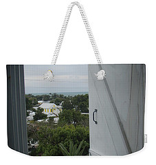Weekender Tote Bag featuring the photograph Lighthouse Window by Robert Nickologianis