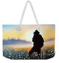Weekender Tote Bag featuring the painting Lighthunter by Vesna Martinjak