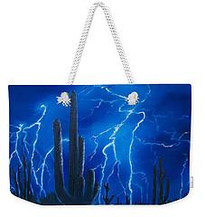 Lightning  Over The Sonoran Weekender Tote Bag