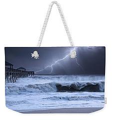 Lightning Strike Weekender Tote Bag by Laura Fasulo