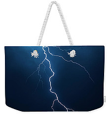 Lightning With Cloudscape Weekender Tote Bag