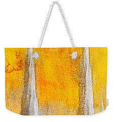 Weekender Tote Bag featuring the painting Like A Fire Is Burning - Panoramic by Greg Collins