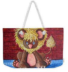 Weekender Tote Bag featuring the painting Lil Dandelion by Megan Walsh