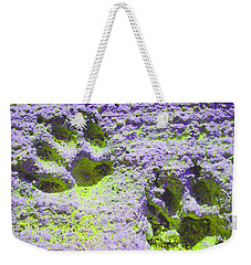 Lilac And Green Pawprints Weekender Tote Bag