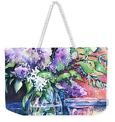 Lilac Light Weekender Tote Bag
