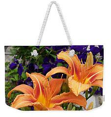 Lilies And Clematis Weekender Tote Bag
