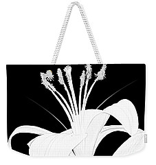 Lilium Black And White  Weekender Tote Bag by Anthony Fishburne