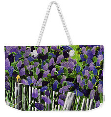 Weekender Tote Bag featuring the painting Lillian's Lilacs by Jennifer Lake