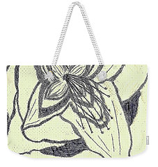 Weekender Tote Bag featuring the drawing Lilly Artistic Doodling Drawing by Joseph Baril