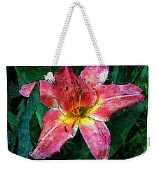 Lilly Of The Rain Weekender Tote Bag