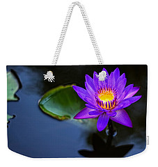 Weekender Tote Bag featuring the photograph Lily Awakens by Dave Files