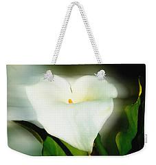 Lily Faux Watercolor Weekender Tote Bag