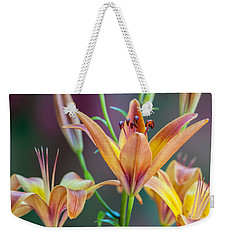 Lily From The Garden Weekender Tote Bag