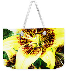Weekender Tote Bag featuring the photograph Lily Love by Shana Rowe Jackson