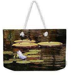 Lily Pad Weekender Tote Bag by Kathy Churchman