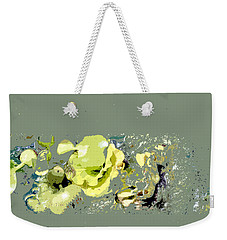 Weekender Tote Bag featuring the digital art Lily Pads - Deconstructed by Lauren Radke