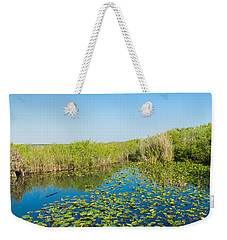 Lily Pads In The Lake, Anhinga Trail Weekender Tote Bag