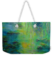 Lily Pond Tribute To Monet Weekender Tote Bag by Claire Bull