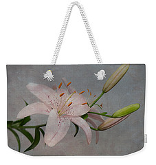 Pink Lily With Texture Weekender Tote Bag