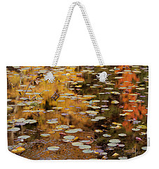 Lilypads And Reflection-h Weekender Tote Bag
