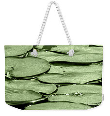 Weekender Tote Bag featuring the photograph Lilypads by Roselynne Broussard