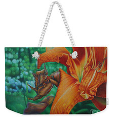 Lily's Evening Weekender Tote Bag by Pamela Clements