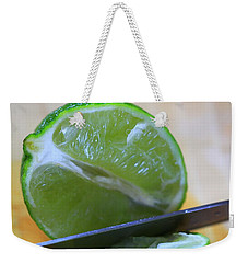 Lime Weekender Tote Bag by Dan Sproul