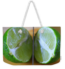 Lime Halves Weekender Tote Bag by Dan Sproul