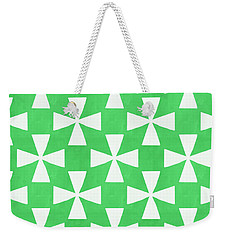 Lime Twirl Weekender Tote Bag by Linda Woods