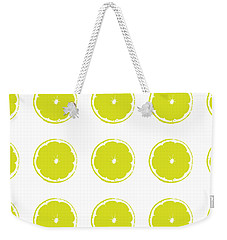 Weekender Tote Bag featuring the digital art Limes by Jocelyn Friis