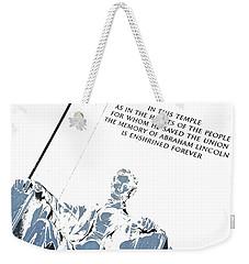 Lincoln In Shades Of Grey Weekender Tote Bag