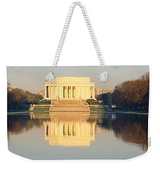 Lincoln Memorial & Reflecting Pool Weekender Tote Bag by Panoramic Images