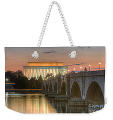 Lincoln Memorial And Arlington Memorial Bridge At Dawn I Weekender Tote Bag