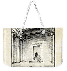 Lincoln Memorial Sketch IIi Weekender Tote Bag by Gary Bodnar