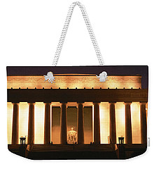 Lincoln Memorial Washington Dc Usa Weekender Tote Bag by Panoramic Images
