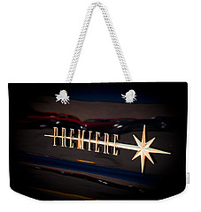Weekender Tote Bag featuring the photograph Lincoln Premiere Emblem by Joann Copeland-Paul