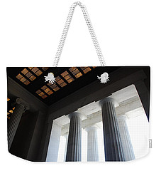 Lincoln Stained Glass And Columns Weekender Tote Bag