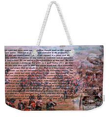 Lincoln's Gettysburg Address Weekender Tote Bag