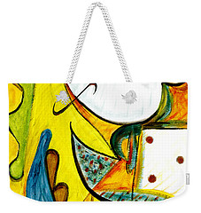 Weekender Tote Bag featuring the painting Linda Paloma by Stephen Lucas