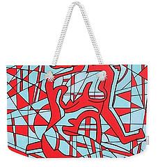 Lined Girl Weekender Tote Bag