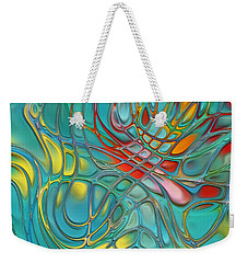 Lines And Circles -p07c08 Weekender Tote Bag by Variance Collections