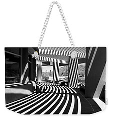 Weekender Tote Bag featuring the photograph Lines And Curves by Lucinda Walter
