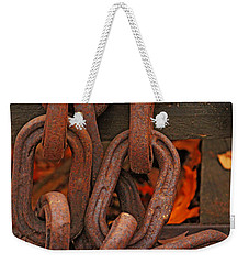 Weekender Tote Bag featuring the photograph Linked by Rowana Ray