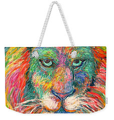 Lion Explosion Weekender Tote Bag